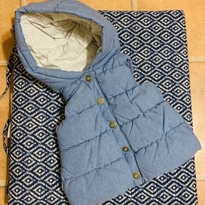 Quilted Hooded children's Vest